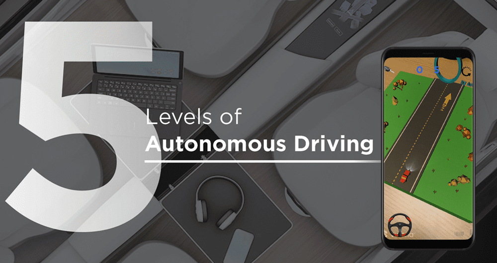 5 Levels of Autonomous Driving Augmented Reality App